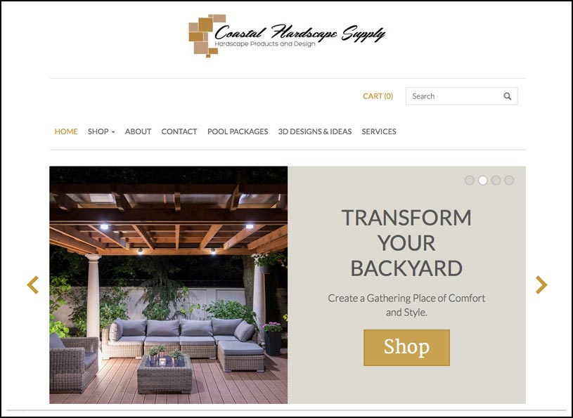 Coastal Hardscape Supply e-Commerce website - Wise Choice Marketing Solutions