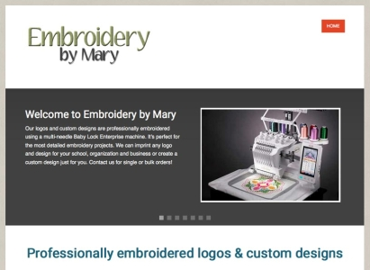Embroidery by Mary responsive website design/development project - Wise Choice Marketing Solutions