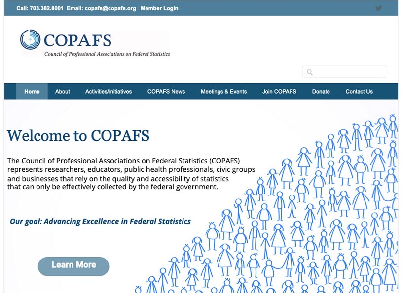 Council of Professional Associations on Federal Statistics (COPAFS)