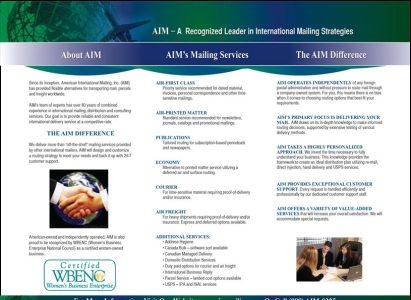 AIM Brochure/email version - Wise Choice Marketing Solutions