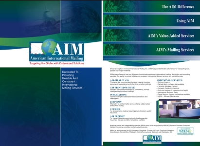 AIM Promotional Folder with staggered inserts - Wise Choice Marketing Solutions