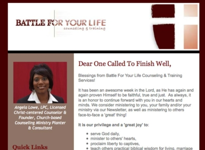 Battle For Your Life e-newsletter - Wise Choice Marketing Solutions