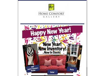 Home Comfort Gallery Sales Event email - Wise Choice Marketing Solutions