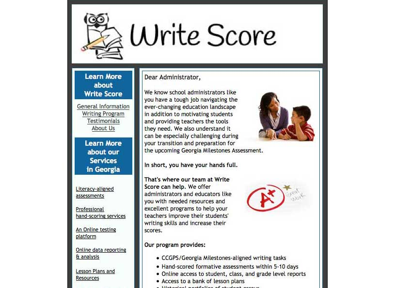 Write Score Informational Email - Wise Choice Marketing Solutions