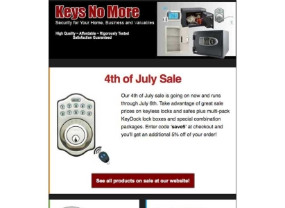Keys No More Email Product Email - Wise Choice Marketing Solutions