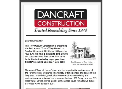 Dancraft Construction Event email - Wise Choice Marketing Solutions