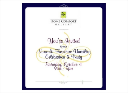 Home Comfort Gallery Invitation Email - Wise Choice Marketing Solutions