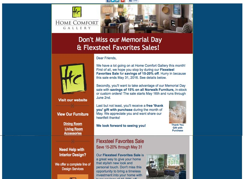 Home Comfort Gallery & Design Sales Events