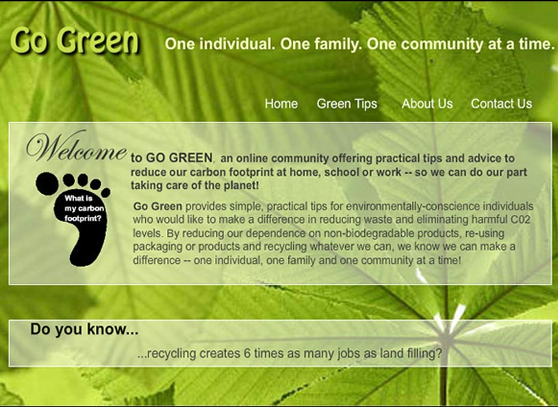 Go Green website project/Edison - Wise Choice Marketing Solutions