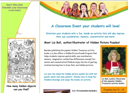 Hidden Picture Puzzles School Event Mailer - Wise Choice Marketing Solutions