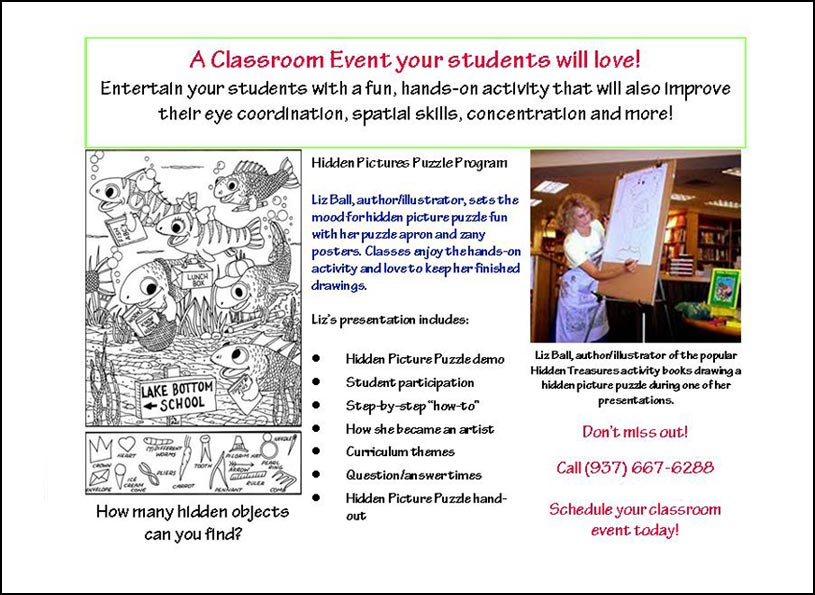 Hidden Picture Puzzles School Event Postcard - Wise Choice Marketing Solutions