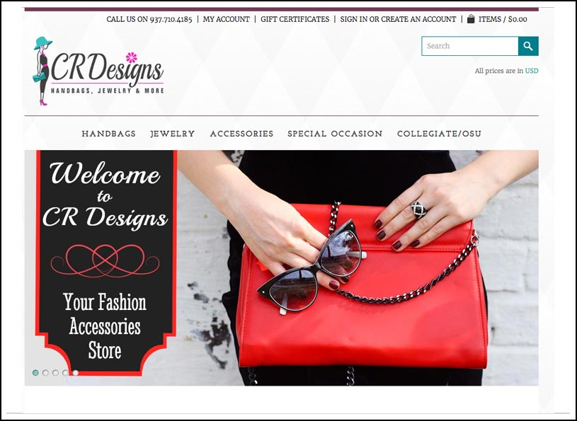 CR Designs e-Commerce website - Wise Choice Marketing Solutions