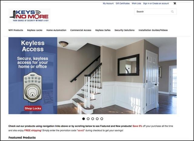 New Responsive Website for Keys No More