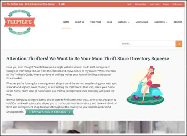 Responsive Website for The Thrifter's Guide