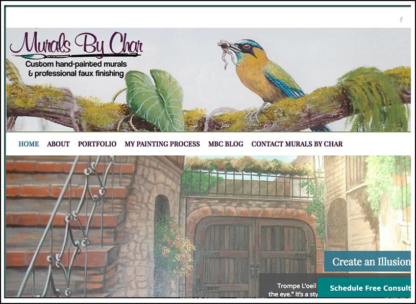 Murals By Char Website Redesign - Wise Choice Marketing Solutions