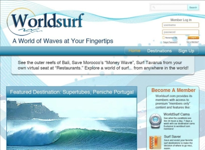 Worldsurf PSD website mock-up/Full Sail project - Wise Choice Marketing Solutions