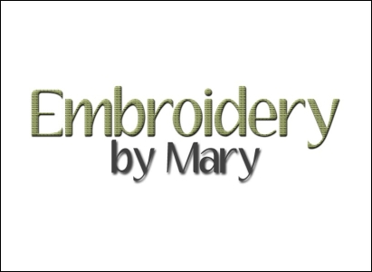 Embroidery by Mary logo - Wise Choice Marketing Solutions