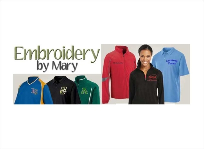 Embroidery by Mary LinkedIn business page header - Wise Choice Marketing Solutions
